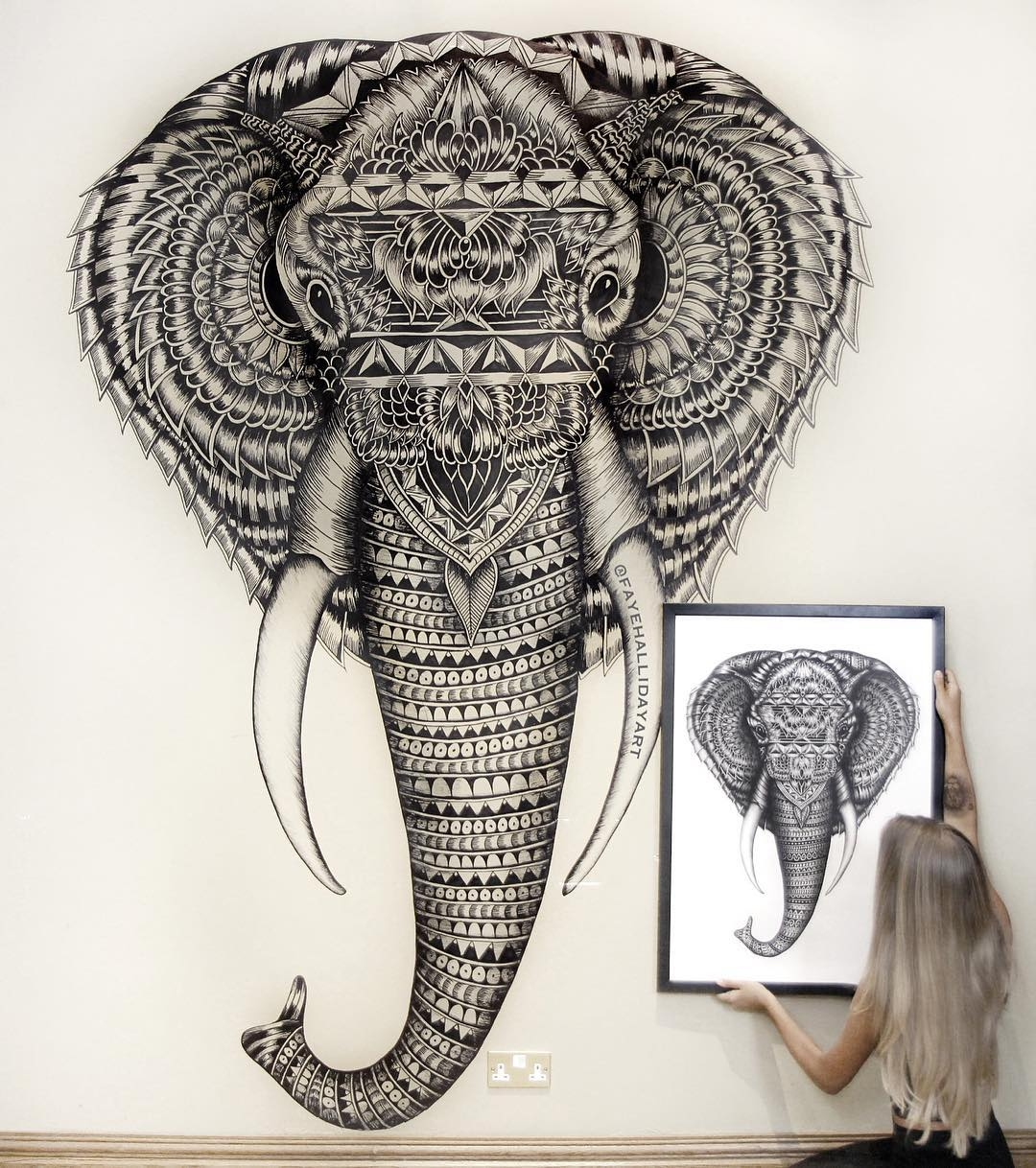07-Elephant-Faye-Halliday-Haathi-Detailed-Drawings-Representing-Complex-Animal-www-designstack-co