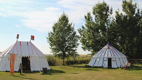 Medieval Camp Alberta Badlands Good Knights