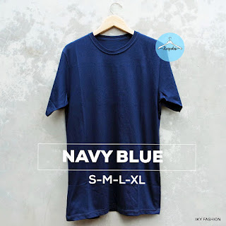 model kaos polos Navy Blue Misty