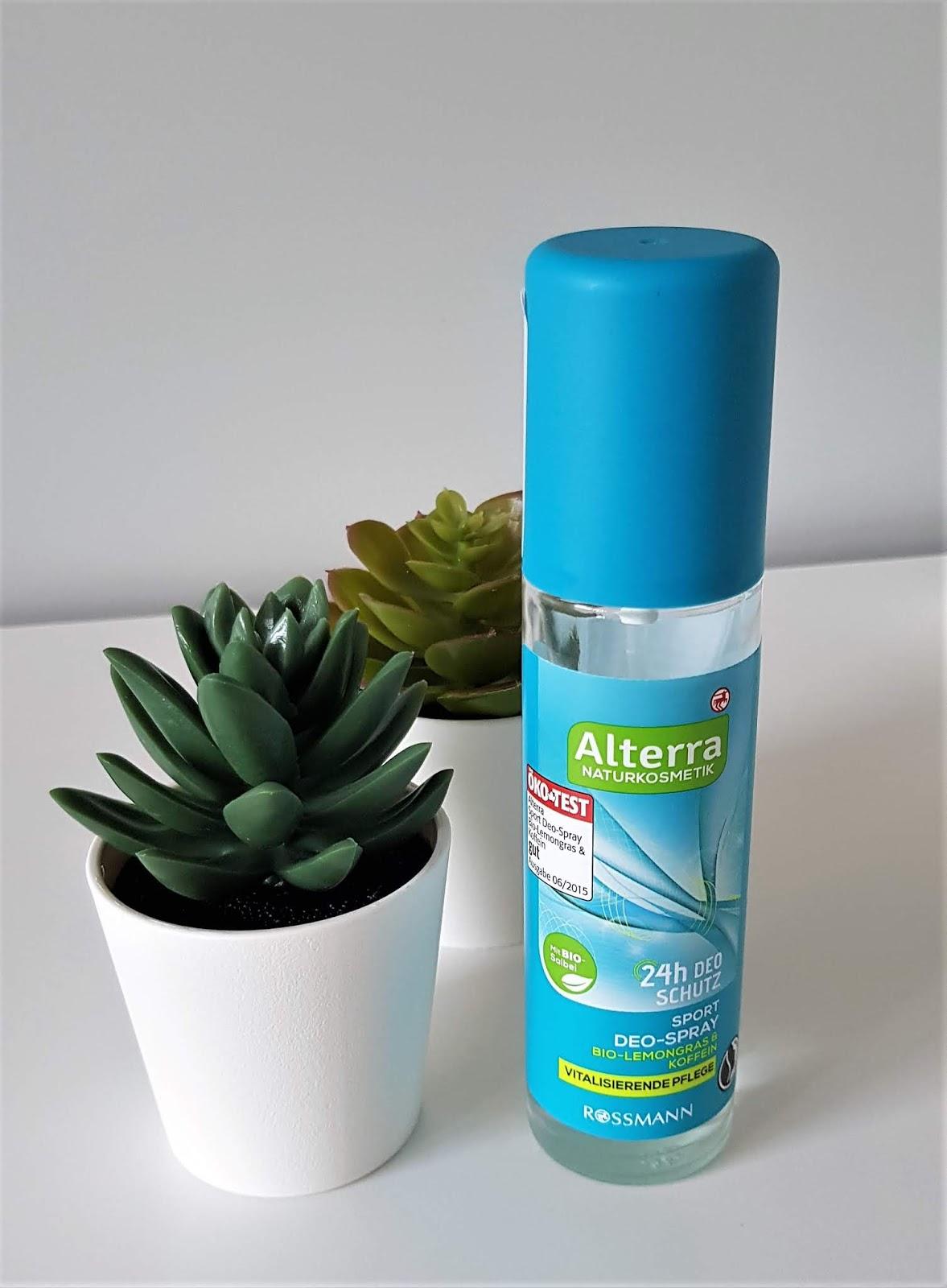 Alterra dezodorant w sprayu dla mężczyzn sport kofeina i trawa cytrynowa