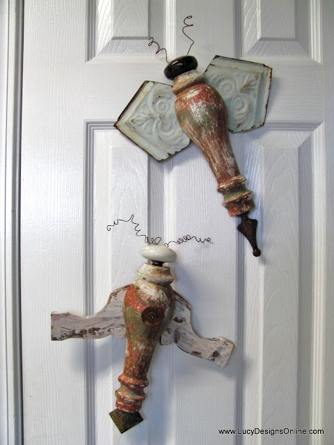 recycled art bugs