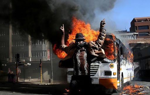 Image result for burning buildings south africa