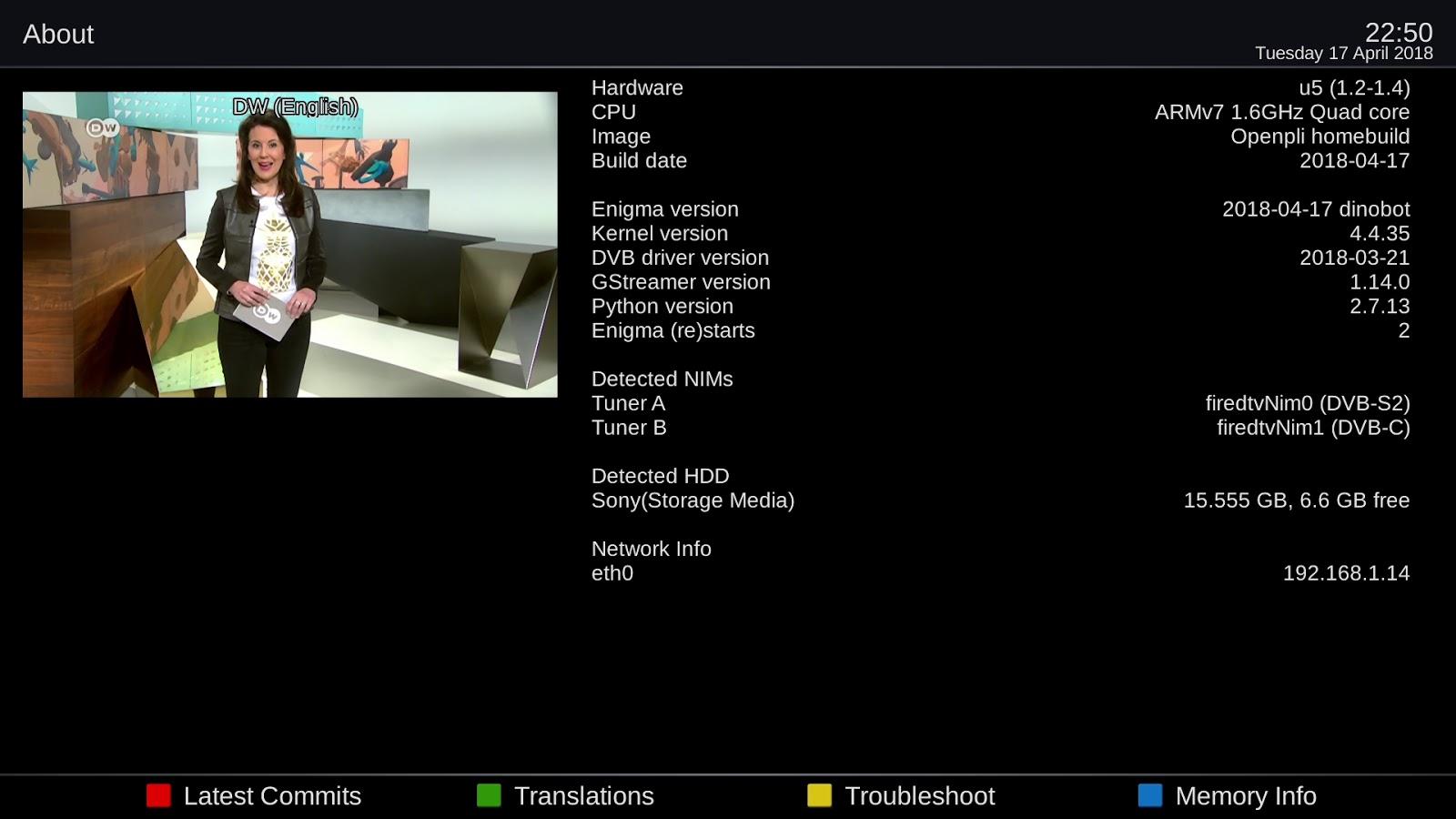 OpenPLi 6 2 Homebuild Dinobot4K