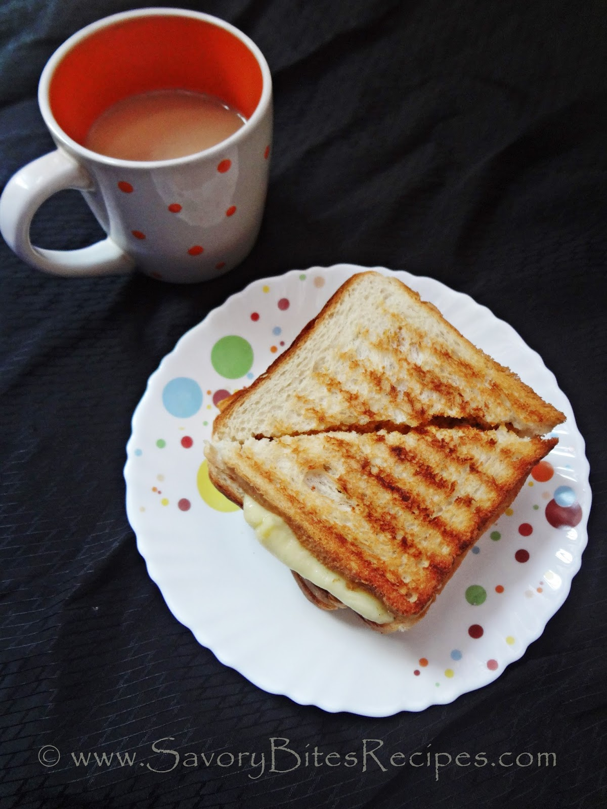 Grilled cheese sandwich Indian Vegetarian