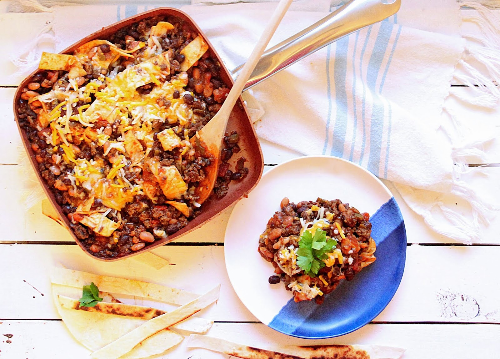 tex-mex beef and bean one pan meal