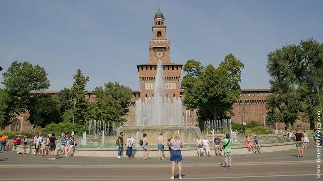Castillo Sforzesco visitar Milán 2 dias viaje Italia verano