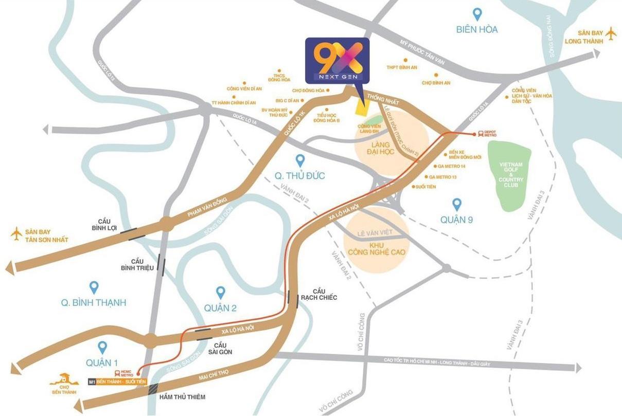 Vị trí dự án căn hộ 9X Next Gen hưng thịnh