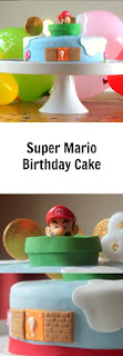 super mario birthday cake using a Pez dispenser