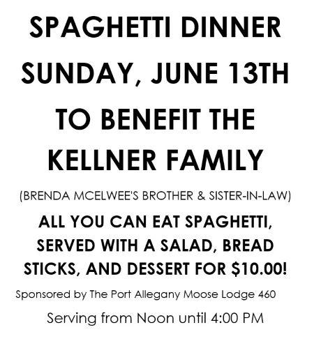 6-13 Benefit Dinner For The Kellner Family