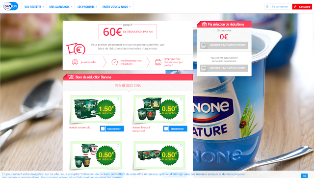 réductions yaourts Danone