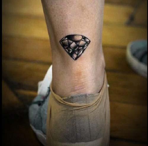 elmas dövmeleri ayak bileği ankle diamond tattoos