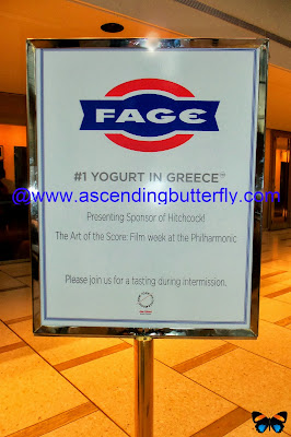 FAGE USA Signage for The Art of the Score: Film Week at the Philharmonic Hitchcock! Intermission