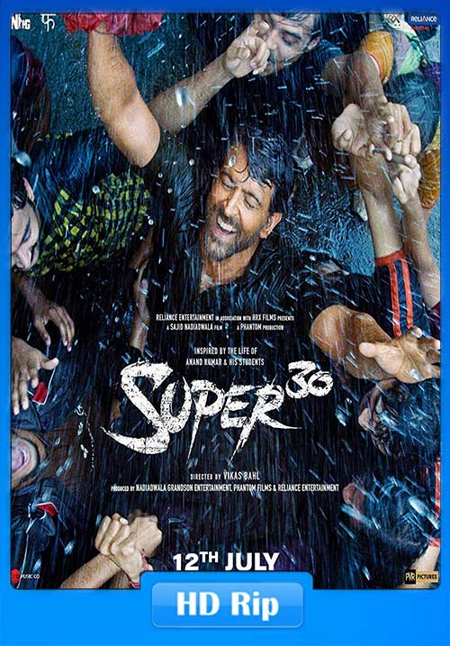 Super 30 2019 720p Hindi HDRip ESub x264 | 480p 300MB | 100MB HEVC Poster