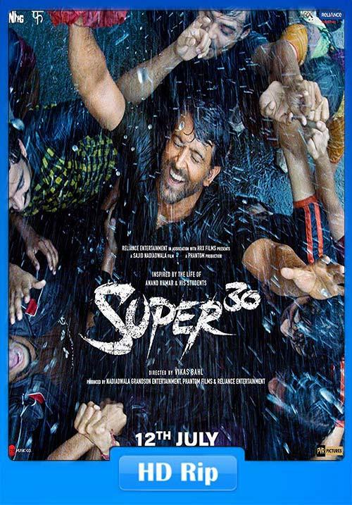 Super 30 2019 720p Hindi HDRip ESub x264 | 480p 300MB | 100MB HEVC