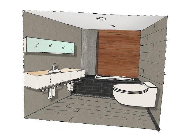 Thiết kế phòng tắm dạng điển hình ( typical)