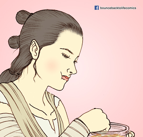 Rey, Finn, Star Wars, The Force Awakens