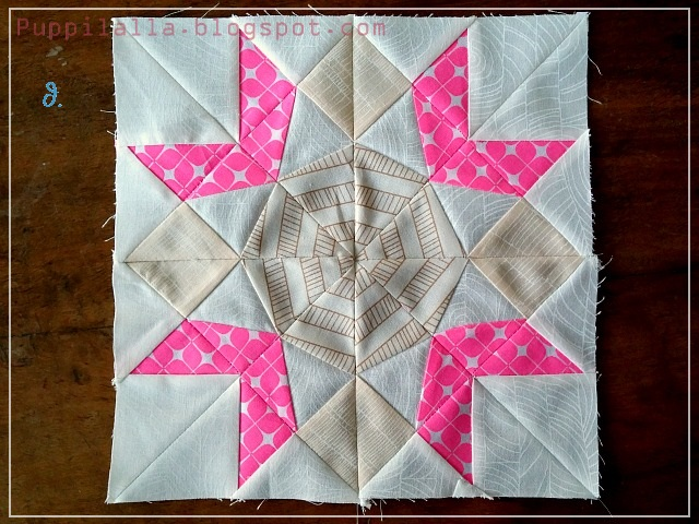 Puppilalla Paper Foundation Piecing Sampler Quilt Monarch Block