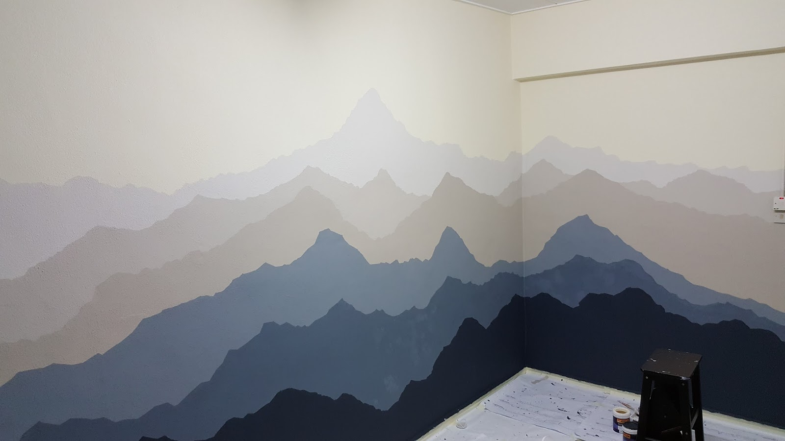 de3aad212558 Anthon plus+ One  PROJECT ROOM PART 1   Mountain Ombre Mural Art