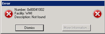 Kitaab: WMI Error: 424 Object required The processing of Group