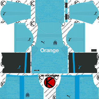 Olympique de Marseille 2018/19 Kit - Dream League Soccer Kits