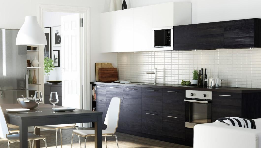 Cat logo de novas cozinhas ikea 2014 decora o e ideias - Mesa negra ikea ...