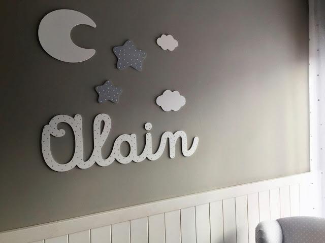 Decorar paredes infantiles con letras y siluetas