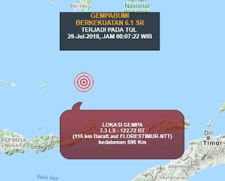 Gempa Barat Laut Flores Sebelum Gempa Lombok