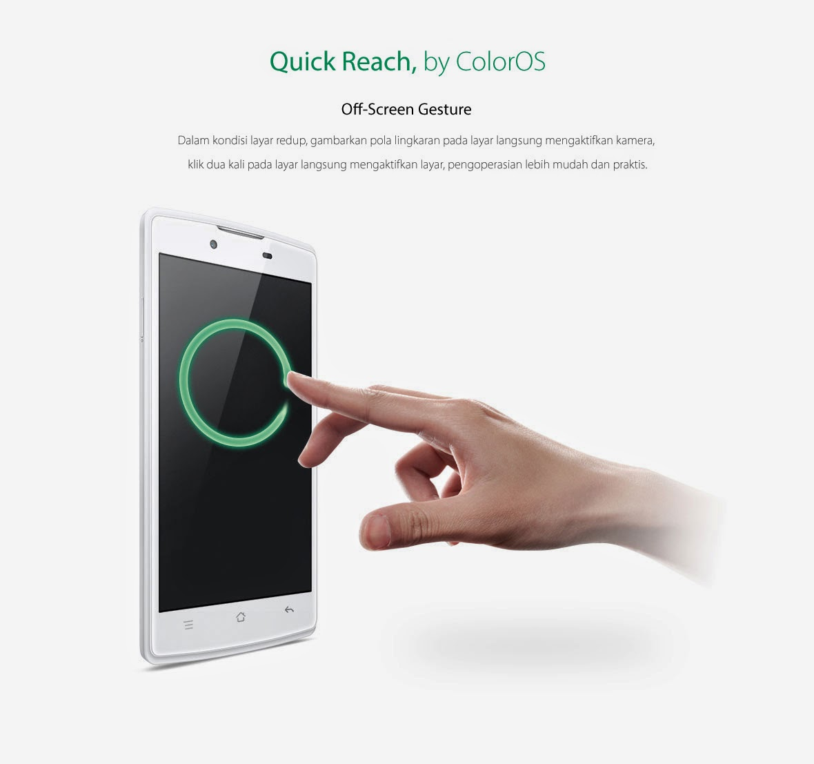 OPPO Neo off screen gesture