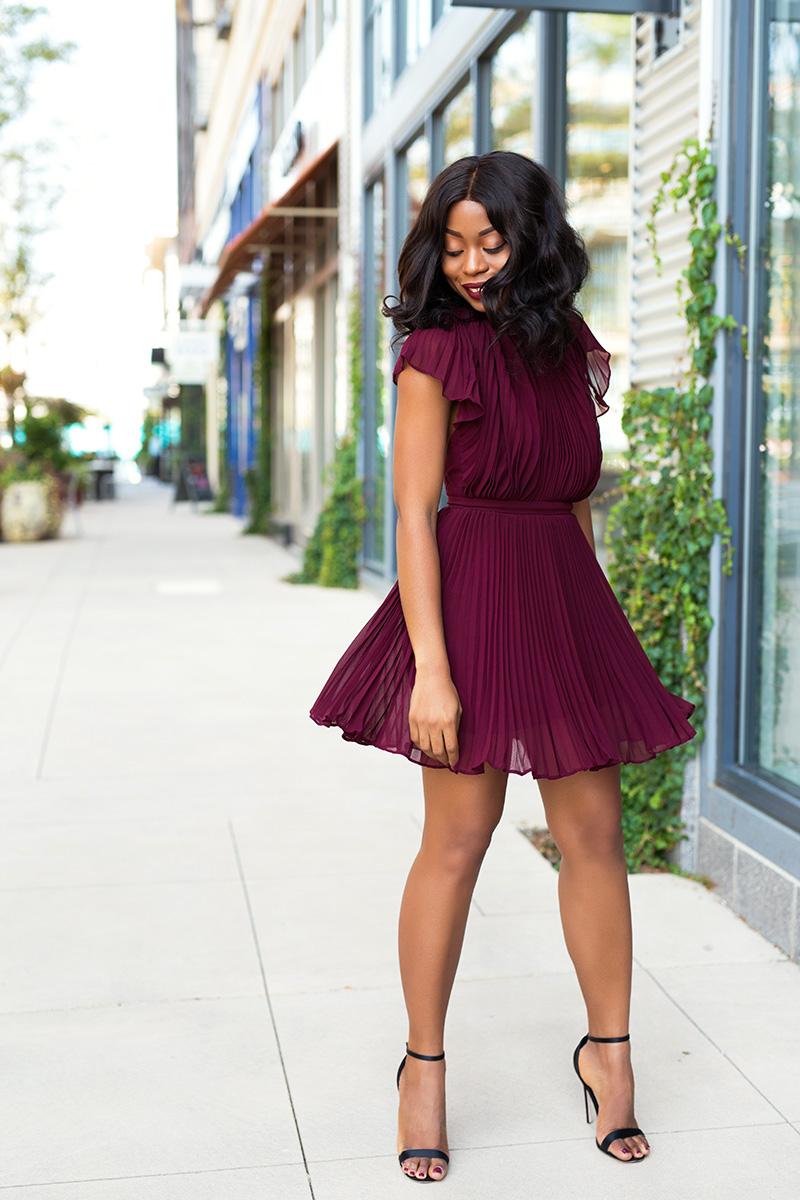 keepsake come back pleated mini dress, www.jadore-fashion.com
