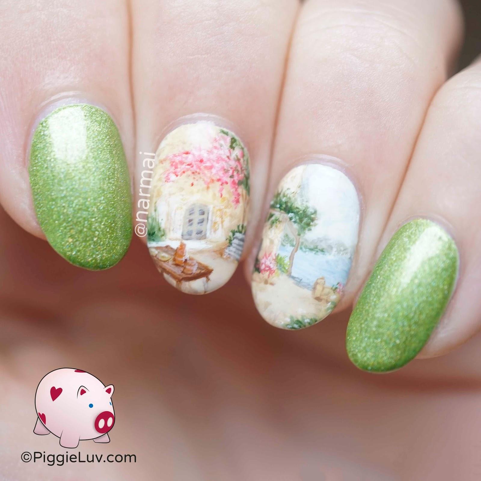 Piggieluv Freehand Summer Terrace Nail Art