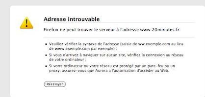 impossible ouvrir internet explorer
