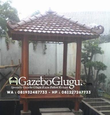Gazebo Glugu Kayu Kelapa