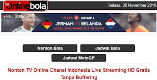 TV Online Bola - Live Streaming HD Gratis Tanpa Buffering