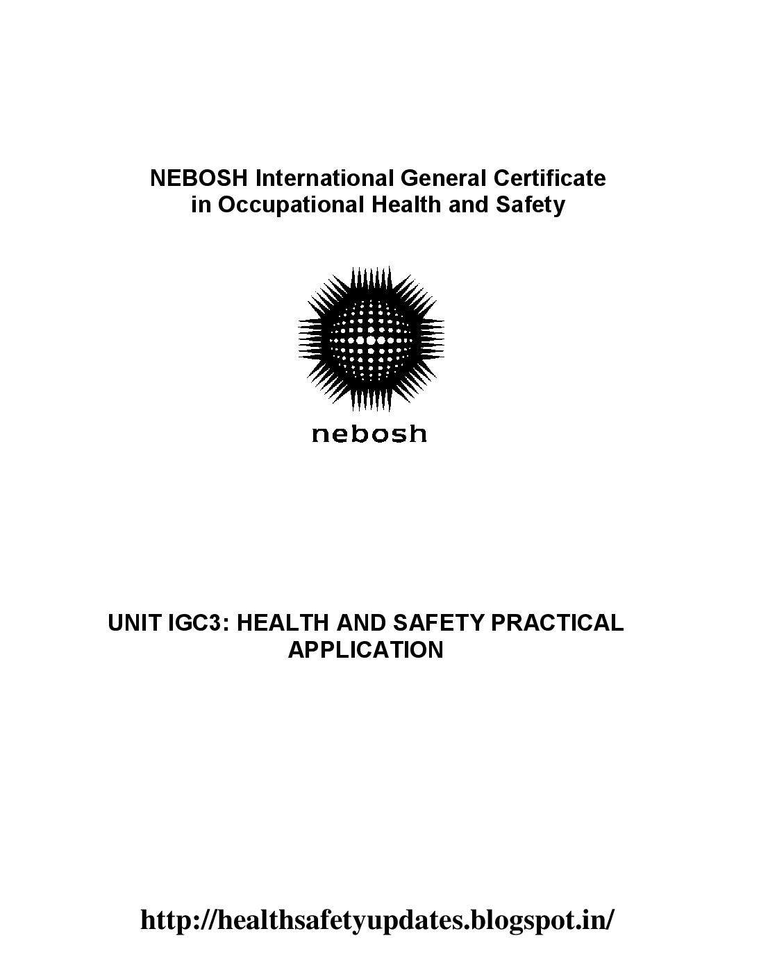 nebosh igc3 report introduction