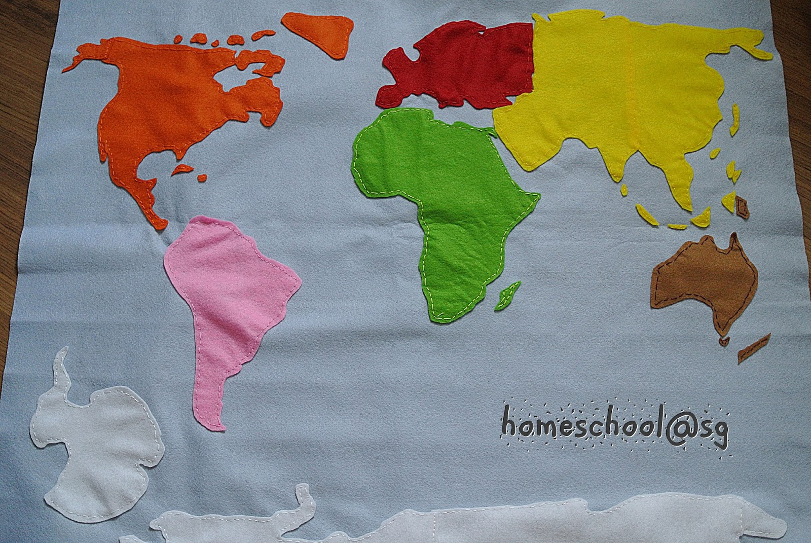 Homeschool Sg Diy Continent Map