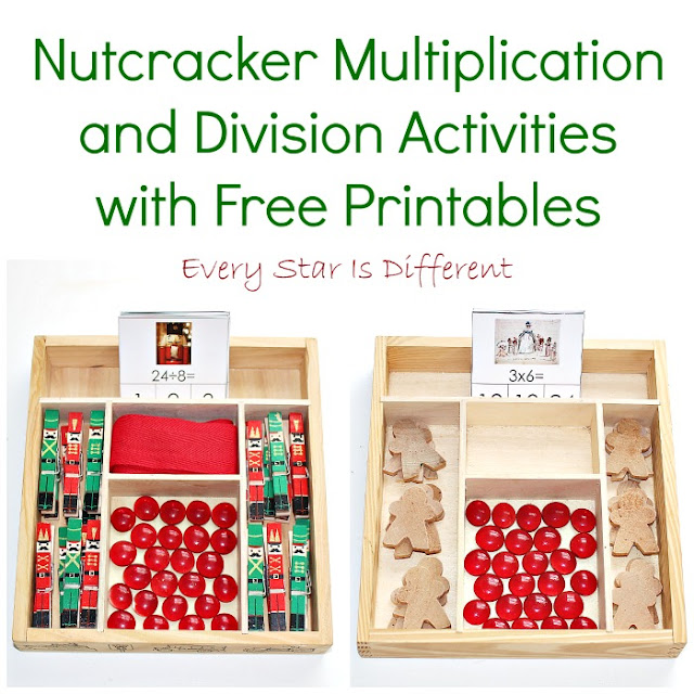 Nutcracker Multiplication and Division Activities with Free Printables