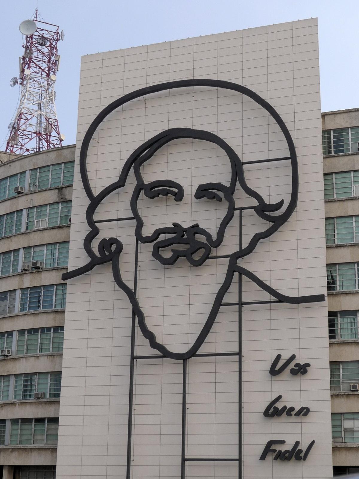 Riesige Ikone des Gran Lider, Plaza de la Revolución