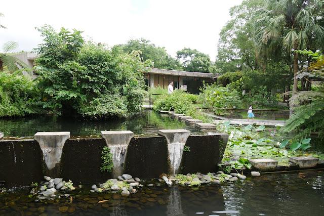 Wasserspiele im botanischen Garten Yuan Sen
