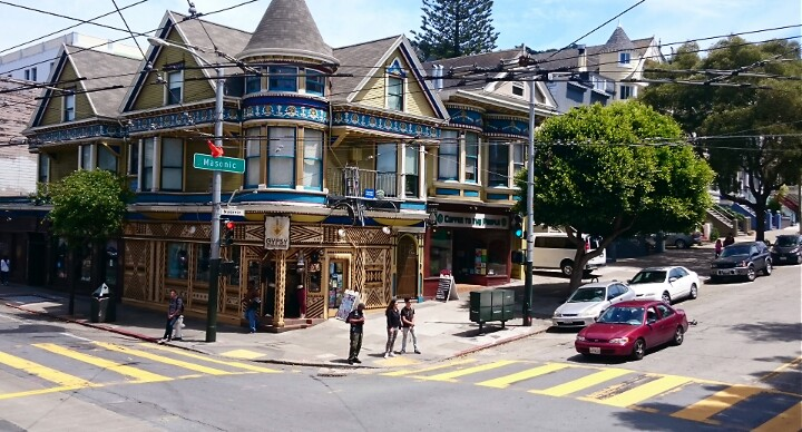 Quirky Colourful Architecture in Haight-Ashbury San Francisco