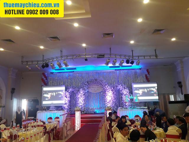Cho thuê máy chiếu tại Bình Chánh để tổ chức tiệc cưới