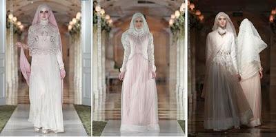 gaun pengantin muslimah 2015