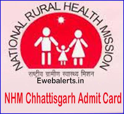 NHM Chhattisgarh Admit Card