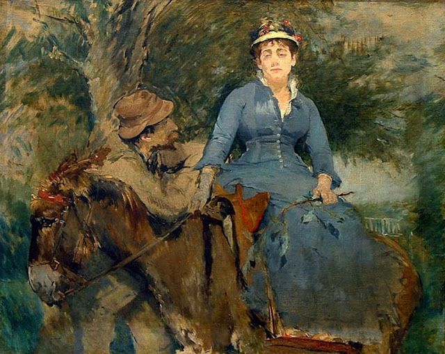 Eva Gonzalès - Paseo en burro - 1880