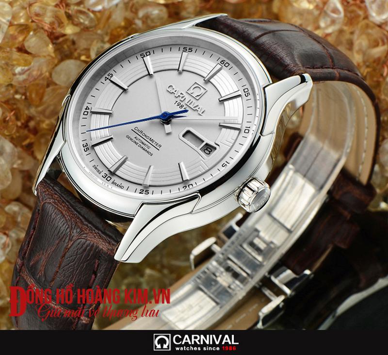 đồng hồ carnival dây da