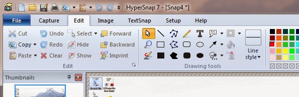 HyperSnap screenshot app for Windows