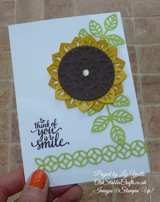 Eastern Medallions Sunflower card
