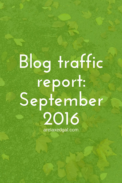 Stepember 2016 blog traffic report | arelaxedgal.com