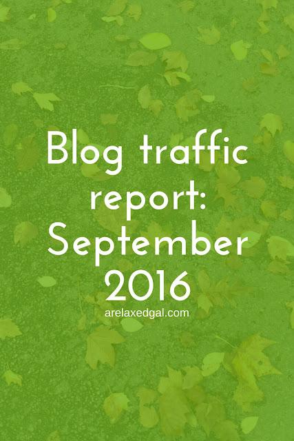 Stepember 2016 blog traffic report | arelaxedgal.com