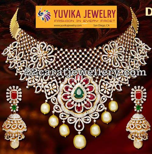 Diamond Necklaces by Yuvika Jewelry