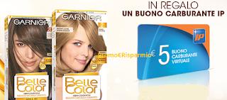 Logo Garnier ti regala buoni carburante IP ma anche 10 euro in buoni sconto